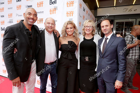 "Executive Music Producer Harvey Mason Jr., Producer Christopher Meledandri, Tori Kelly, Producer Janet Healy and Mike Knobloch, President, Film Music and Publishing of Universal Pictures, seen at Universal Pictures ""Sing"" at the 2016 Toronto International Film Festival, in Toronto"
