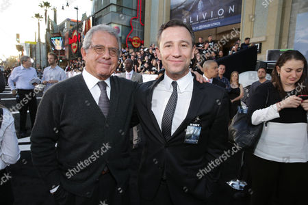 """Universal Studios President and COO Ron Meyer and Universal's President of Marketing Josh Goldstine at Universal Pictures Presents the American Premiere of """"Oblivion"""" held at the TCL Chinese Theater on in Los Angeles"""