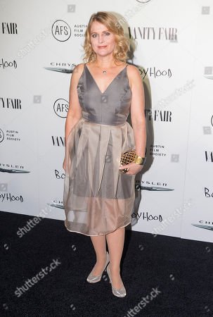 Stock Image of Cathleen Sutherland attends the Vanity Fair and Chrysler Celebrate Richard Linklater and the cast of Boyhood, in West Hollywood, CA