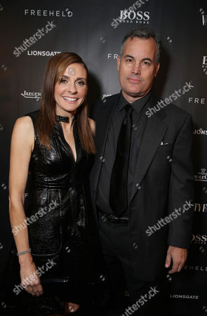 Stock Picture of Producer Cynthia Wade and actor Matthew Syrett at the Vanity Fair toast of FREEHELD at TIFF 2015 presented by Hugo Boss and supported by Jaeger-LeCoultre, in Toronto, Canada