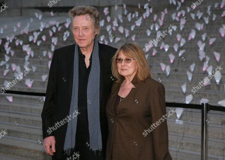 Actor Christopher Walken, left, and his wife, casting director Georgianne Walken, right, attend the Vanity Fair Tribeca Film Festival Party,, in New York