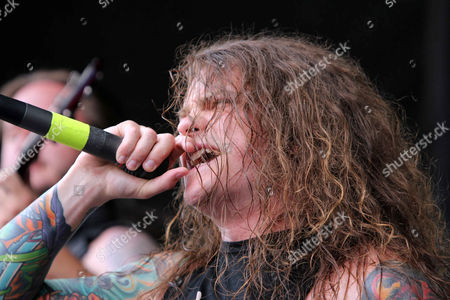 Levi Benton with Miss May I performs during the Vans Warped Tour 2015 at Aaron's Amphitheatre, in Atlanta