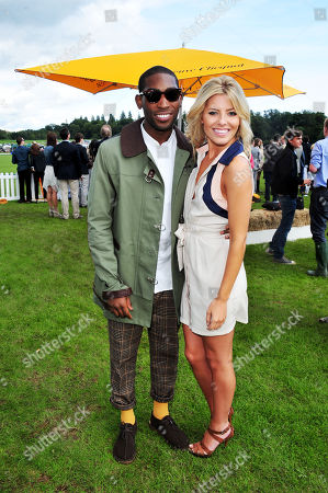 Stock Photo of Tiny Tempah, Molly King poses at the Veuve Clicquot Gold Cup Polo at Cowdrey Park on in Midhurst