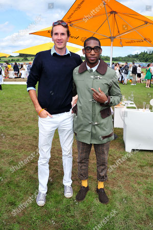 Tiny Tempah, Otis Ferry poses at the Veuve Clicquot Gold Cup Polo at Cowdrey Park on in Midhurst