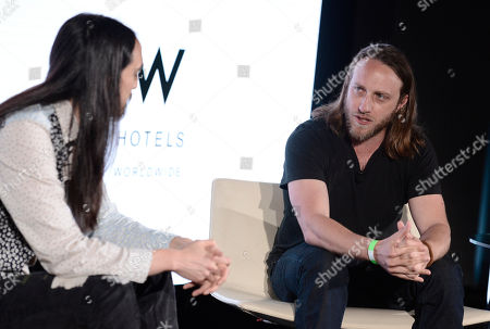 Stock Picture of Steve Aoki, left, and Chad Hurley attend the International Music Summit - IMS Engage at the W Hollywood,, in Los Angeles