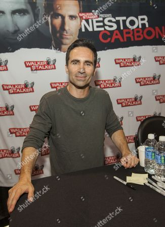 Nestor Carbonell appears at the Walker Stalker convention during the Fear The Walking Dead panel, at the Donald E. Stephens Center in Rosemont, IL