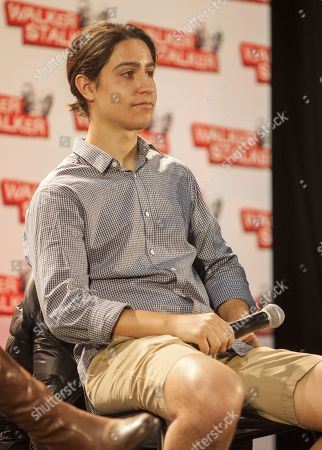 Lorenzo Henrie appears at the Walker Stalker convention during the Fear The Walking Dead panel, at the Donald E. Stephens Center in Rosemont, IL