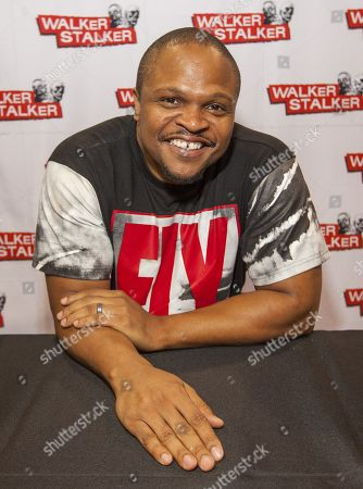 Stock Photo of IronE Singleton appears at the Walker Stalker convention, at the Donald E. Stephens Center in Rosemont, IL
