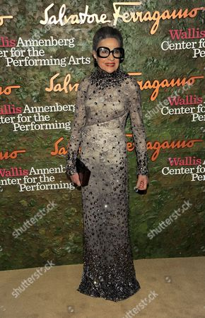 Joy Venturini Bianchi arrives at the Wallis Annenberg Center for the Performing Arts Inaugural Gala, in Beverly Hills, Calif