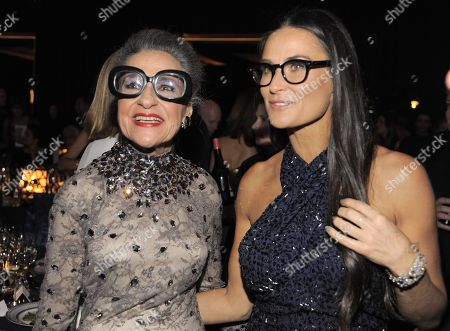 Joy Venturini Bianchi, left and actress Demi Moore attend the Wallis Annenberg Center for the Performing Arts Inaugural Gala, in Beverly Hills, Calif