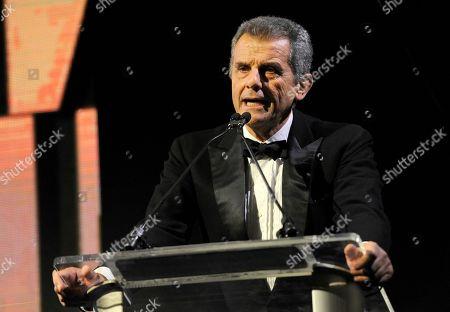 Stock Image of Ferruccio Ferragamo, president of Salvatore Ferragamo, speaks at the Wallis Annenberg Center for the Performing Arts Inaugural Gala, in Beverly Hills, Calif