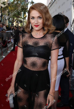 Erica Piccininni seen at the Warner Bros. Premiere of 'Jersey Boys' at the 2014 Los Angeles Film Festival held at Regal Cinemas LA Live Stadium 14, in Los Angeles
