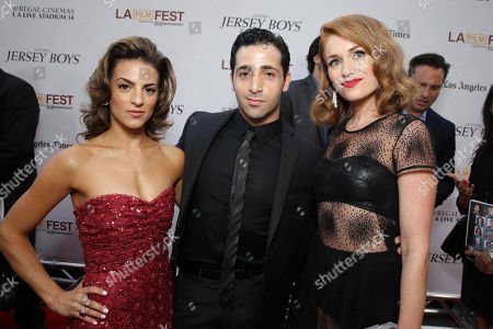 Stock Photo of Renee Marino, Johnny Cannizzaro and Erica Piccininni seen at the Warner Bros. Premiere of 'Jersey Boys' at the 2014 Los Angeles Film Festival held at Regal Cinemas LA Live Stadium 14, in Los Angeles