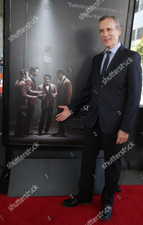 Stock Image of Screenwriter and Musical book writer Rick Elice seen at the Warner Bros. Premiere of 'Jersey Boys' at the 2014 Los Angeles Film Festival held at Regal Cinemas LA Live Stadium 14, in Los Angeles