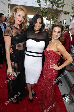 Erica Piccininni, Kathrine Narducci and Renee Marino seen at the Warner Bros. Premiere of 'Jersey Boys' at the 2014 Los Angeles Film Festival held at Regal Cinemas LA Live Stadium 14, in Los Angeles