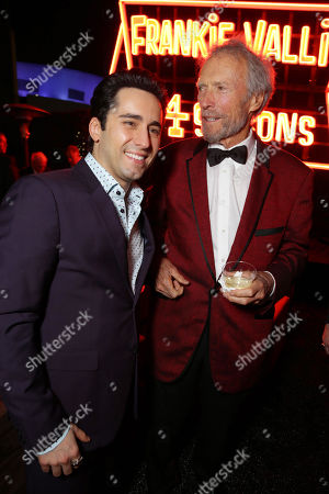 John Lloyd Young and Director/Producer Clint Eastwood seen at the Warner Bros. Premiere of 'Jersey Boys' at the 2014 Los Angeles Film Festival held at Regal Cinemas LA Live Stadium 14, in Los Angeles
