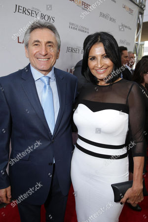 Stock Image of Lou Volpe and Kathrine Narducci seen at the Warner Bros. Premiere of 'Jersey Boys' at the 2014 Los Angeles Film Festival held at Regal Cinemas LA Live Stadium 14, in Los Angeles