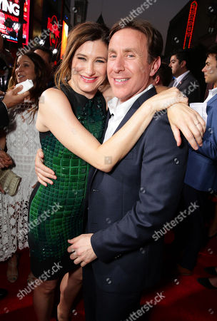 "Kathryn Hahn and Executive Producer/Writer Jonathan Tropper seen at Warner Bros. ""This is Where I Leave You"" Los Angeles Premiere, in Los Angeles"
