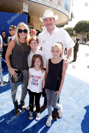 Leigh Koechner, Charlie Koechner, Eve Koechner, Audrey Koechner and David Koechner seen at Warner Bros. Pictures and Warner Animation Group World Premiere of STORKS at the Regency Village Theater, in Los Angeles