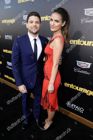 "Jerry Ferrara and Breanne Racano seen at Warner Bros. Premiere of ""Entourage"" held at Regency Village Theatre, in Westwood, Calif"