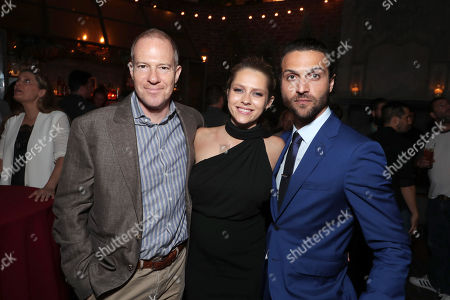"""Exclusive - Toby Emmerich, President and COO, New Line Cinema, Teresa Palmer and Alexander DiPersia seen at Warner Bros. Premiere of """"Lights Out"""" at TCL Chinese Theatre, in Los Angeles"""