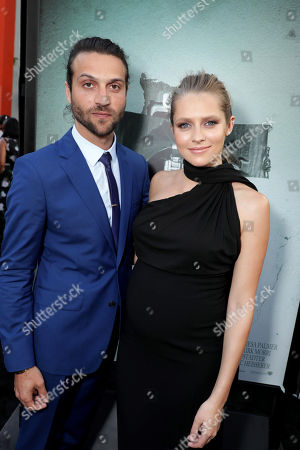 """Alexander DiPersia and Teresa Palmer seen at Warner Bros. Premiere of """"Lights Out"""" at TCL Chinese Theatre, in Los Angeles"""