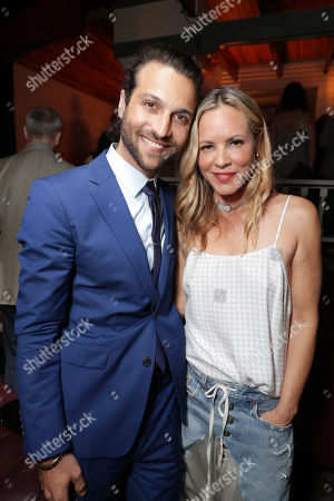 """Exclusive - Alexander DiPersia and Maria Bello seen at Warner Bros. Premiere of """"Lights Out"""" at TCL Chinese Theatre, in Los Angeles"""