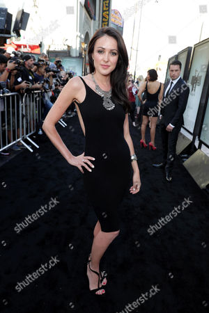 """Karen Hassan seen at Warner Bros. Premiere of """"Lights Out"""" at TCL Chinese Theatre, in Los Angeles"""