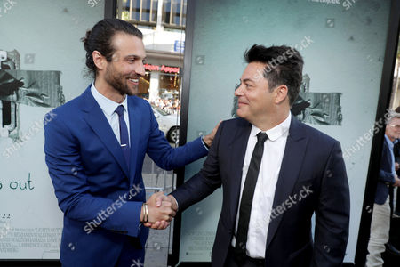 "Alexander DiPersia and Producer Lawrence Grey seen at Warner Bros. Premiere of ""Lights Out"" at TCL Chinese Theatre, in Los Angeles"