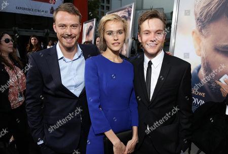 "Michael Dorman, Isabel Lucas and James Fraser seen at Warner Bros. Premiere of ""The Water Diviner"", in Los Angeles"