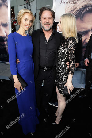 """Isabel Lucas, Director Russell Crowe and Jacqueline McKenzie seen at Warner Bros. Premiere of """"The Water Diviner"""", in Los Angeles"""
