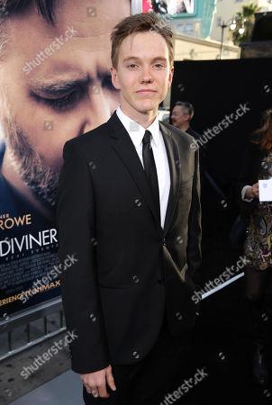 "James Fraser seen at Warner Bros. Premiere of ""The Water Diviner"", in Los Angeles"