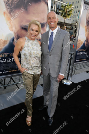 "Kym Wilson and Sean O'Byrne seen at Warner Bros. Premiere of ""The Water Diviner"", in Los Angeles"