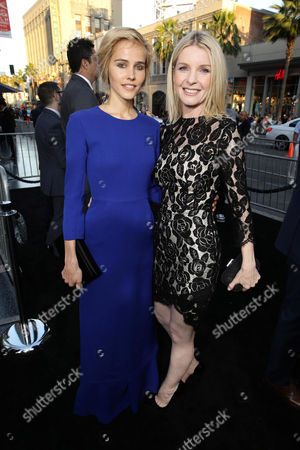 """Isabel Lucas and Jacqueline McKenzie seen at Warner Bros. Premiere of """"The Water Diviner"""", in Los Angeles"""