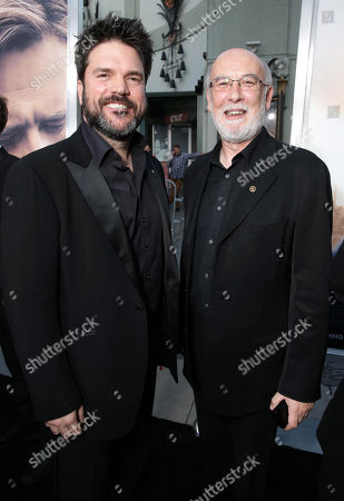 """Producer Keith Rodger and Producer Andrew Mason seen at Warner Bros. Premiere of """"The Water Diviner"""", in Los Angeles"""