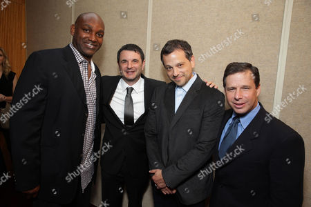 Producer Broderick Johnson, Producer Adam Kolbrenner, Writer Aaron Guzikowski and Producer Andrew A. Kosove seen at Warner Bros. Premiere of 'Prisoners', on Thursday, Sep, 12, 2013 in Beverly Hills, Calif