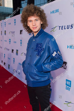 Francesco Yates seen at We Day, in Toronto