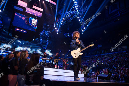 Francesco Yates performs at We Day, in Toronto