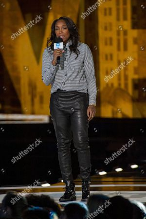 WNBA player Cappie Pondexter during the We Day Illinois 2015 at Allstate Arena on in Chicago
