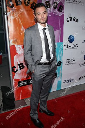 "Stock Photo of Jared Carter arrives at the west coast special screening of ""CBGB"" at ArcLight Hollywood on in Los Angeles"