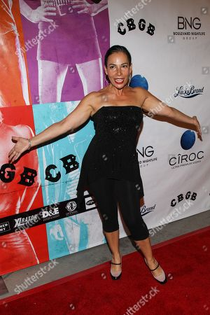 """Actress Marabina Jaimes arrives at the west coast special screening of """"CBGB"""" at ArcLight Hollywood on in Los Angeles"""