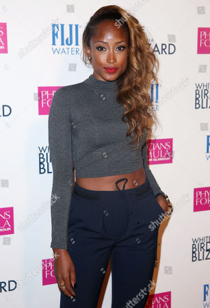"Keenyah Hill arrives at the premiere of ""White Bird in a Blizzard"" presented by FIJI Water on in Los Angeles"