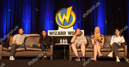 Charlie Cox, Rosario Dawson, Elden Henson, Deborah Ann Woll and Élodie Yung during Wizard World Chicago Comic-Con at the Donald E. Stephens Convention Center, in Chicago