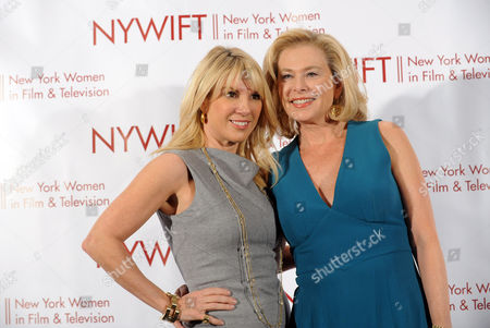 Ramona Singer, left, and Pamela Morgan attend the 32nd annual Muse Awards presented by New York Women in Film & Television (NYWIFT), in New York, which honored actors Mariska Hargitay and Lucy Liu, WE tv President Kim Martin and documentary filmmaker Lisa F. Jackson