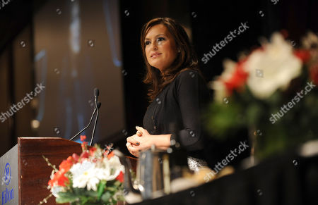 Stock Image of Mariska Hargitay is honored at the 32nd annual Muse Awards presented by New York Women in Film & Television (NYWIFT), in New York. The event also honored actress Lucy Liu, Kim Martin, President & General Manager WE tv, Lisa F. Jackson, documentary filmmaker, and Debra Zimmerman, of Women Make Movies