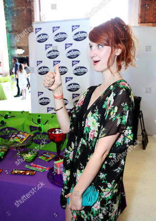 Actress Laura Spencer visits the WONKA Randoms candy bar at an Emmy Awards gift suite on in Los Angeles. Please visit WONKA's facebook page at www.facebook.com/wonka