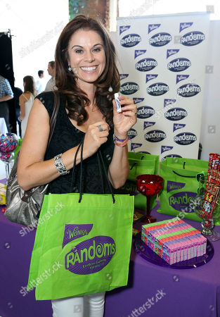 Actress Jennifer Taylor visits the WONKA Randoms candy bar at an Emmy Awards gift suite on in Los Angeles. Please visit WONKA's facebook page at www.facebook.com/wonka