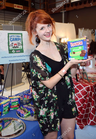 Actress Laura Spencer visits the WONKA Randoms candy bar at an Emmy Awards gift suite on in Los Angeles
