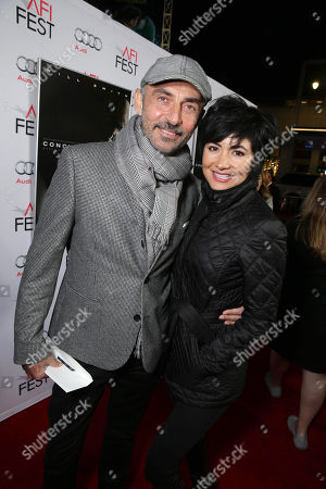 Shaun Toub and Lorena Mendoza-seen at World Premiere Gala Screening of Sony Pictures 'Concussion' at AFI Fest 2015 at TCL Chinese Theatre, in Hollywood, CA