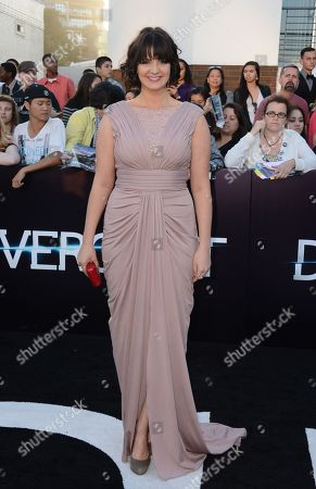 """Amy Newbold arrives at the world premiere of """"Divergent"""" at the Westwood Regency Village Theater, in Los Angeles"""